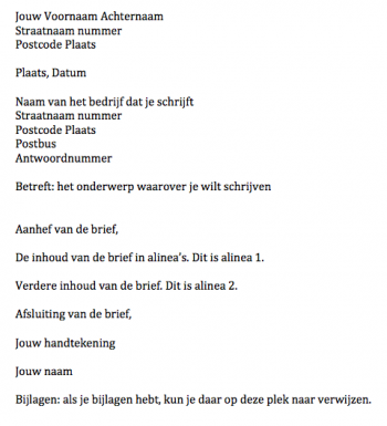 Formele Brief Nederlands | hetmakershuis