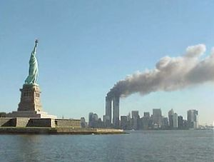 National Park Service 9-11 Statue of Liberty and WTC fire.jpg